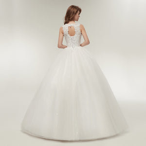 Korean Lace Up Quality Wedding Dress