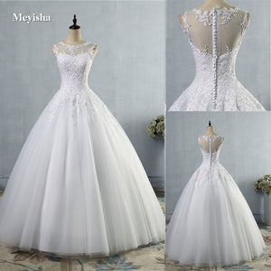 White  lace White Ivory A-Line Wedding Dress