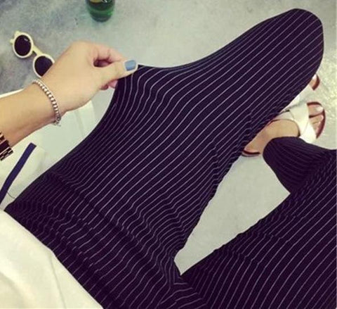 New Fashion Women Vertical Striped Pants