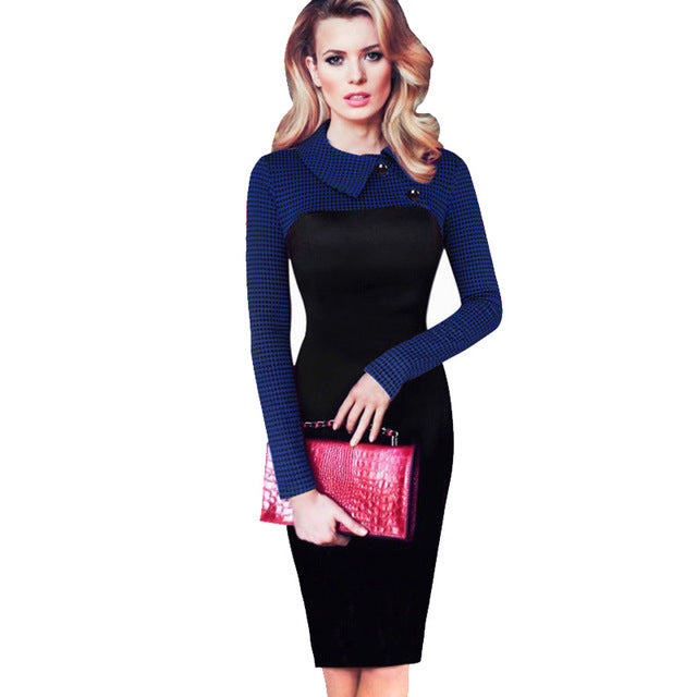 Elegant Vintage Fitted  Pencil Dress
