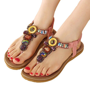 Gemstone Beaded  Summer Sandals