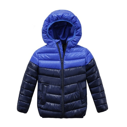 Boys  High Quality Blue winter   Zipper jacket