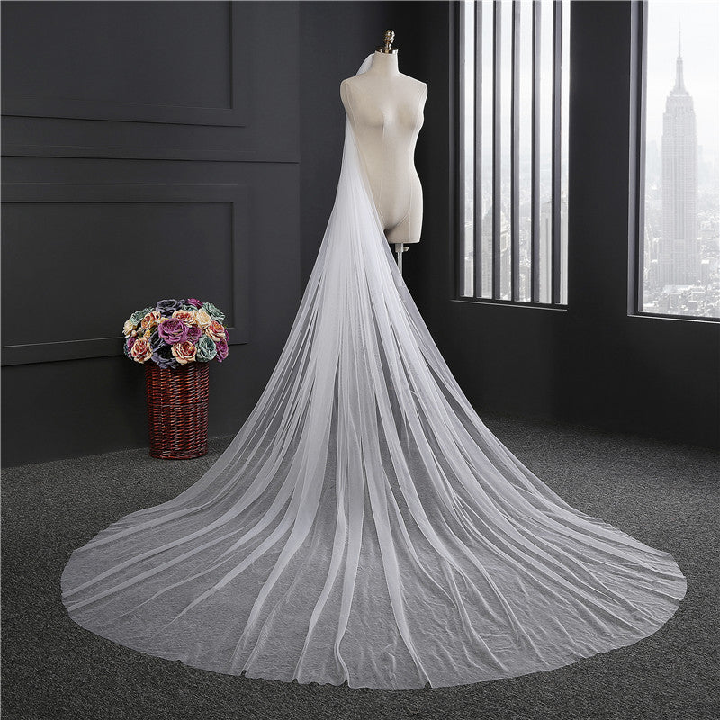 Elegant Wedding Veil 3 Meters Long Soft Bridal  Dress