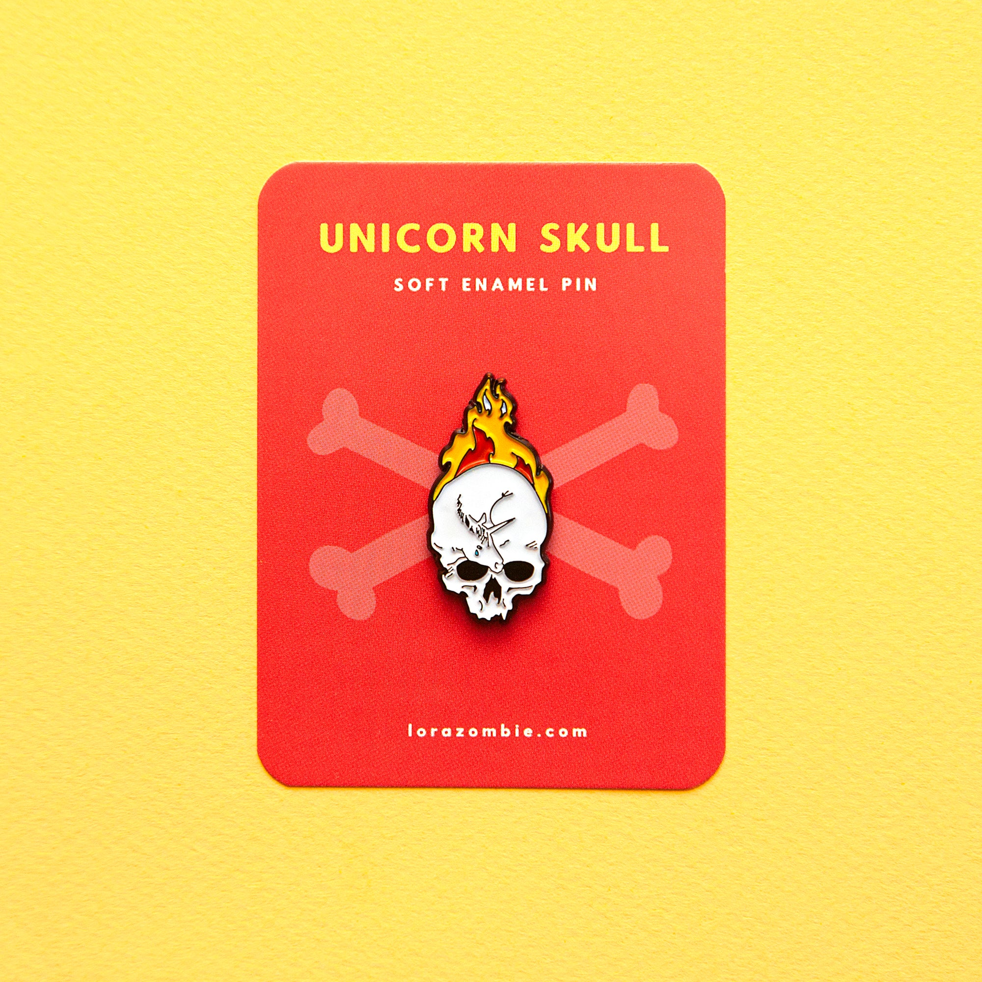 Unicorn Skull Pin