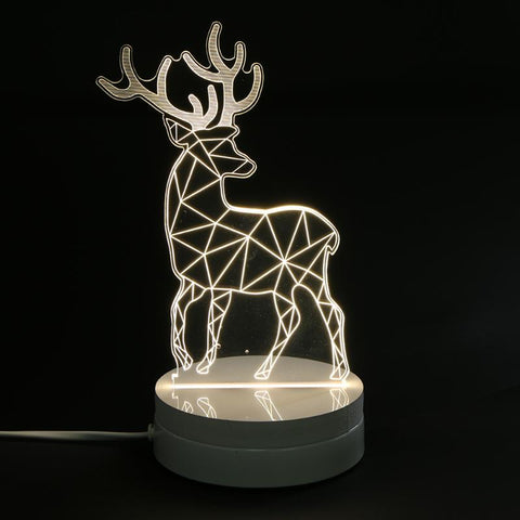 3D Deer Plastic Desk Lamp