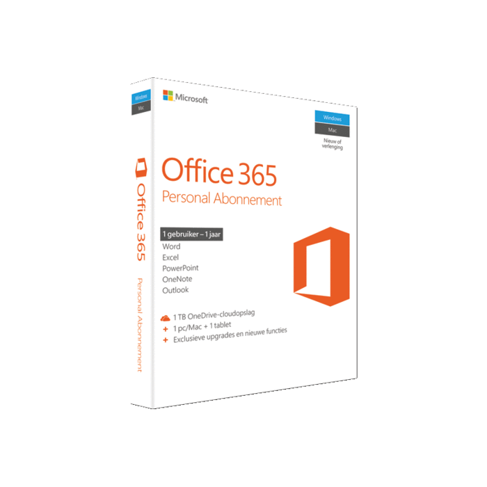 MS Office 365 Personal, 1 jr abonnement UK