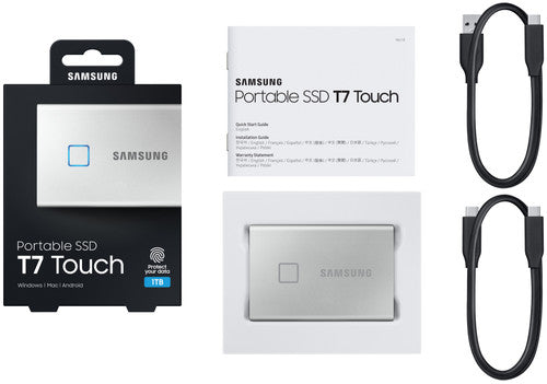 Samsung Portable SSD T7 - 1TB - Zilver