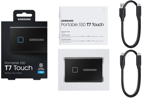 Samsung Portable SSD T7 Touch - 500GB - Zwart