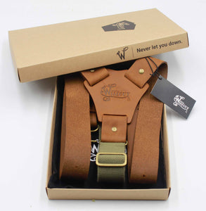 Crazy Horse Flex Army Green Camel Brown Wide No. L333