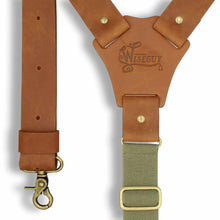 Lade das Bild in den Galerie-Viewer, Crazy Horse Flex Army Green Camel Brown Wide No. L333