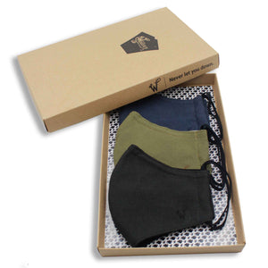 FaceWear 3-pack Army Green, Navy, Black No. M95