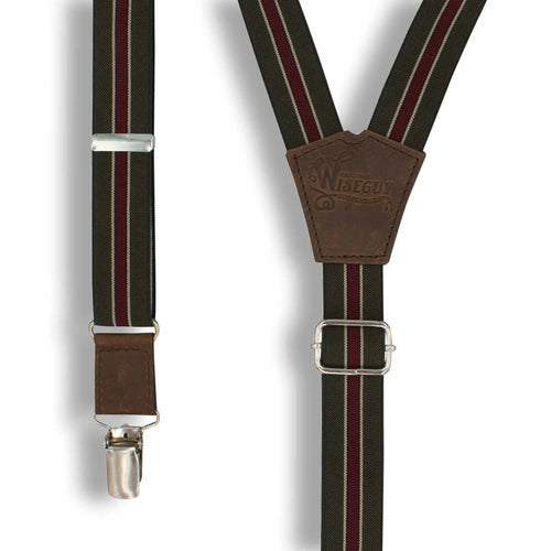 The Indy Speed Racing Suspenders slim straps (1 inch/2.54 cm) - Wiseguy Suspenders