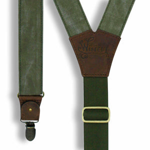 Mad Dog - Salvaged Suspenders wide straps (1.36 inch/3.5 cm) - Wiseguy Suspenders