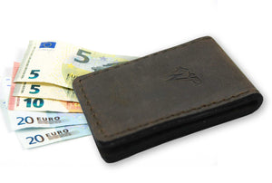Money Clip Leder Dunkelbraun No. A22