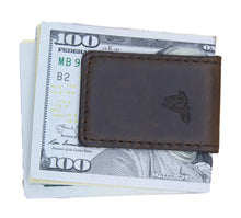 Lade das Bild in den Galerie-Viewer, Money Clip Leder Dunkelbraun No. A22