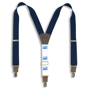 Reuzel Slickback Suspenders on Dark Brown wide straps (1.36 inch / 3.5 cm) - Wiseguy Suspenders