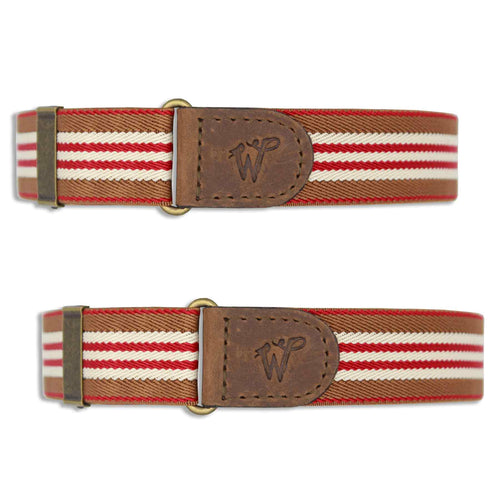 wiseguy suspenders sleeve garters striped