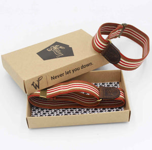 wiseguy suspenders striped sleeve holders