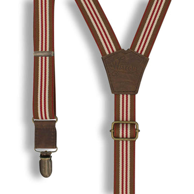 The Monaco Racing Suspenders slim straps (1 inch/2.54 cm) - Wiseguy Suspenders
