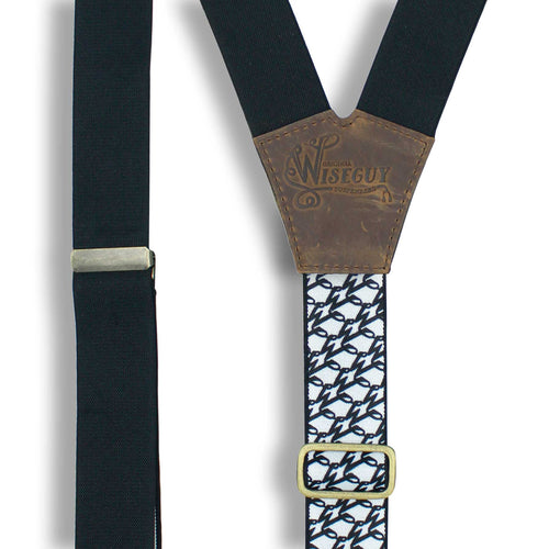 The Swag Suspenders wide straps (1.36 inch/3.5 cm) - Wiseguy Suspenders