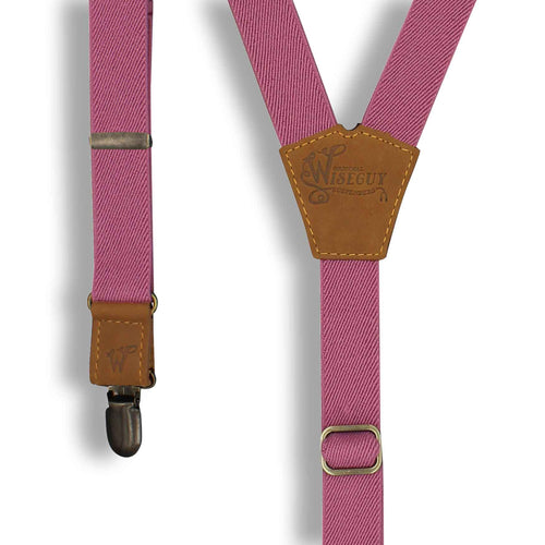 Warlord Casual Elastic Suspender 1 inch with Camel Brown Leather Parts - Wiseguy Suspenders