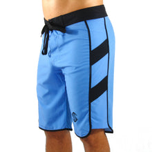 A look at our signature men's physique boardshorts featuring a lightweight polyester/spandex blend and a fitted cut.