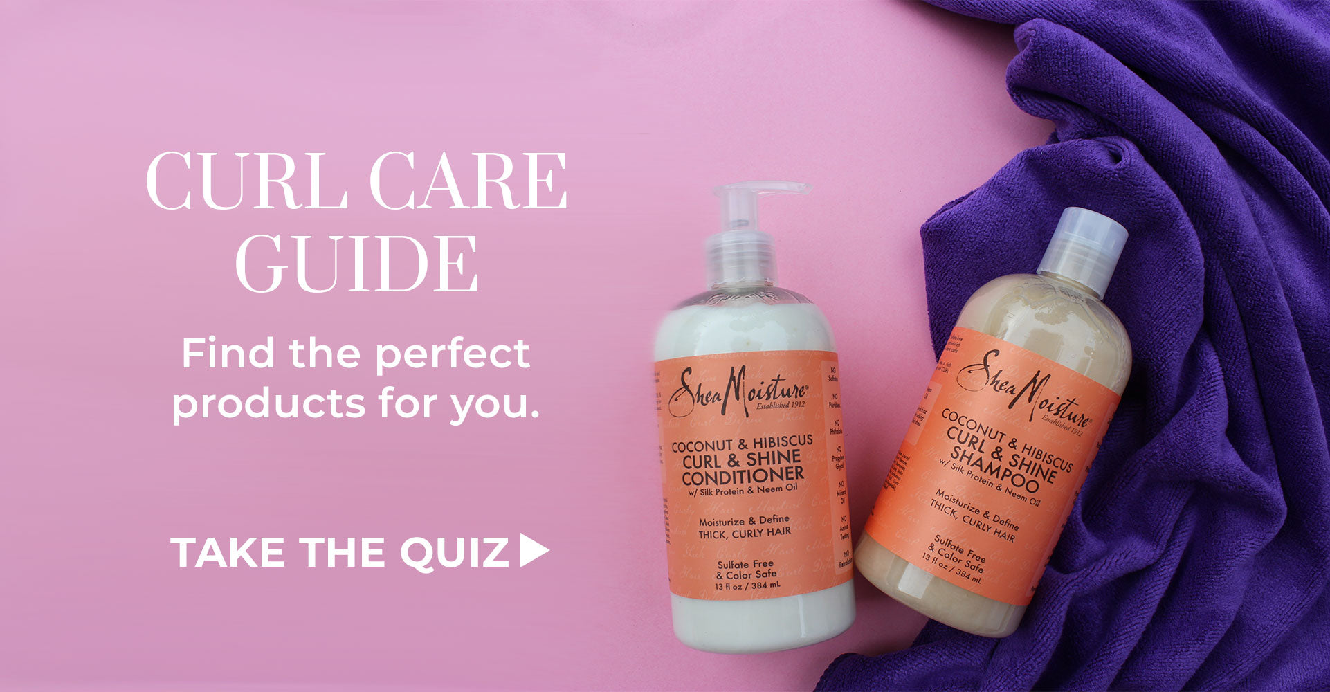 Use the curl care guide to find the perfect products for you