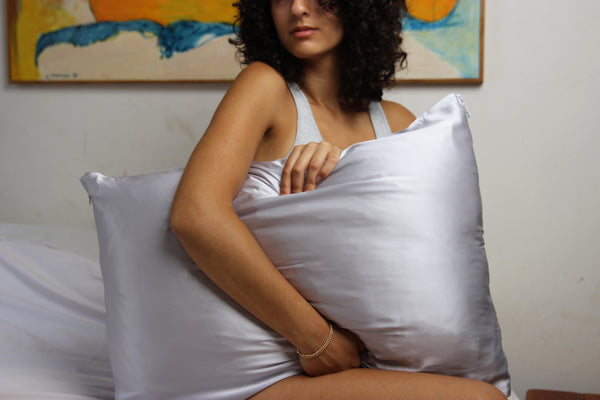 Saint Curl Silk Pillowcase - Grey - Queen Size