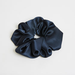 Saint Curl Silk Scrunchie Navy