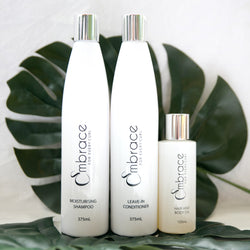 Embrace Curl Combo Shampoo leave-in conditioner hair oil