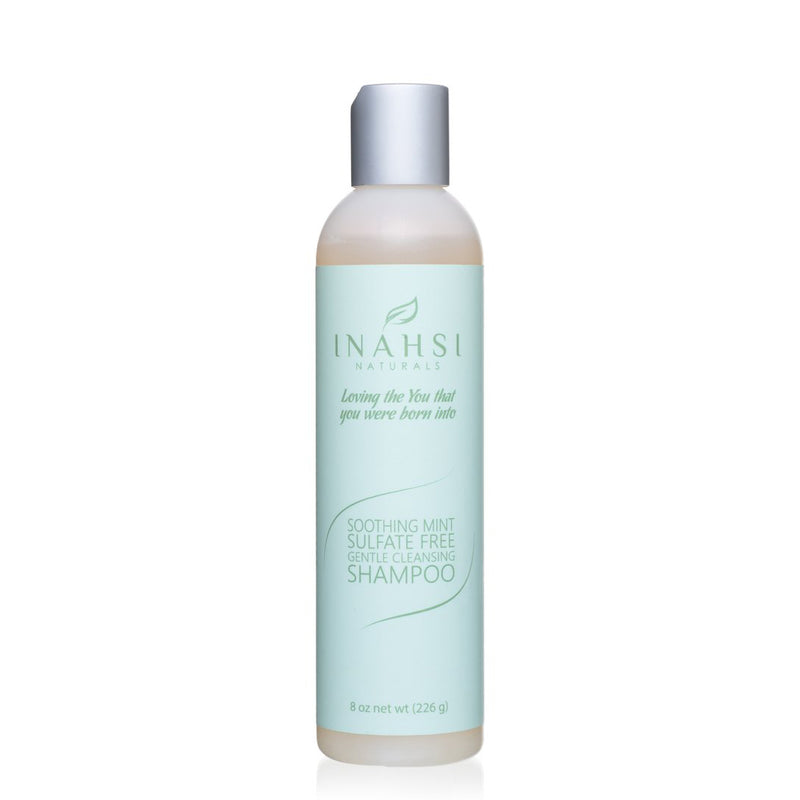 Inahsi Soothing Mint Sulfate Free Gentle Cleansing Shampoo
