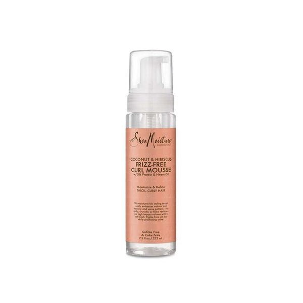 SheaMoisture Coconut & Hibiscus Frizz-Free Curl Mousse saint curl