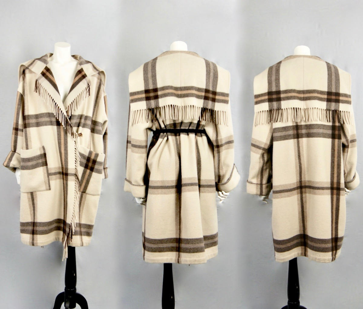 flannel wool coat