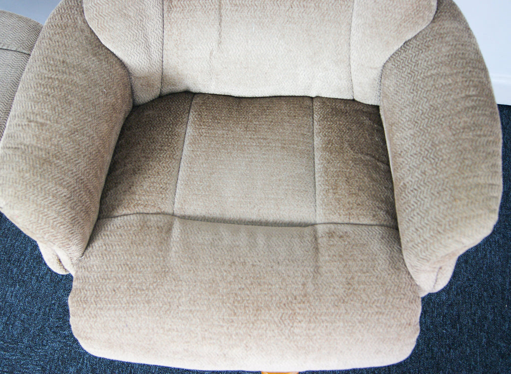 Retro 1980s Reclining Armchair And Ottoman Footstool