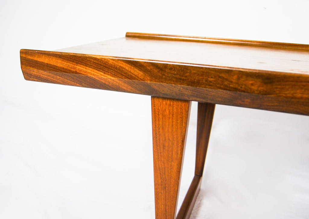 Dansk Design Denmark Peter Lovig Nielsen, Elegant Solid Teak Sled Legs Coffee Table