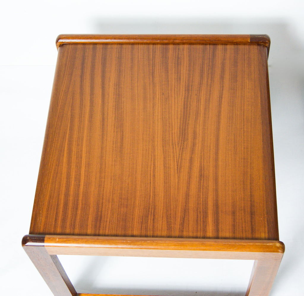 Mid-century modern, 1960s Danish Teak nest Tables, teak wood nesting coffee tables