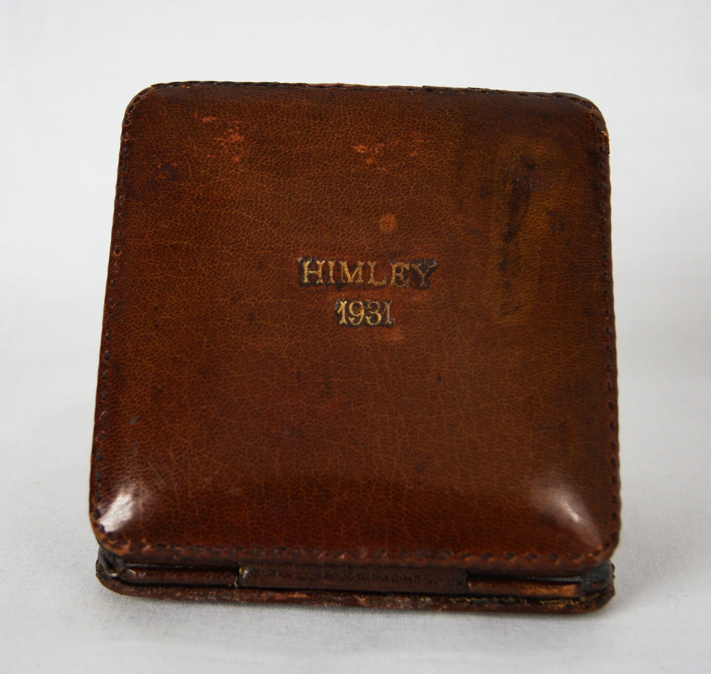 HIMLEY 1931 Art Deco Leather Bound 8 Day Travel Clock