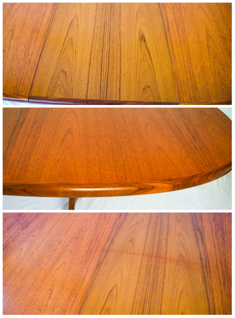 Retro 1960s G Plan Extending Dining Table and 6 Fresco Dining Chairs