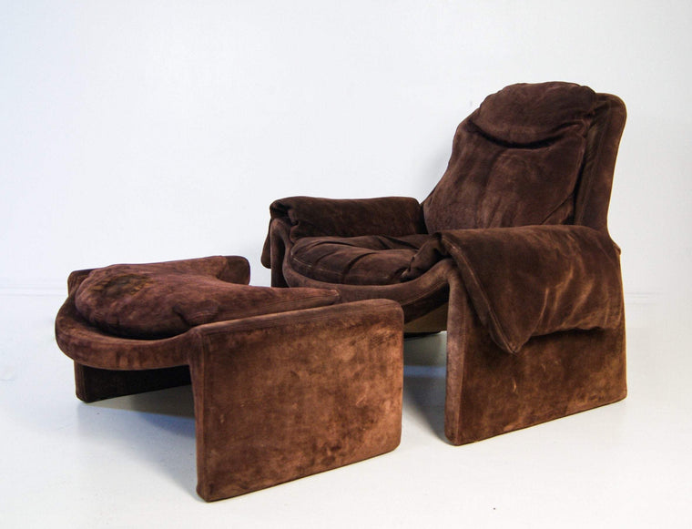 Vittorio Introini for Saporiti, Lounge Chair P60 & Ottoman P62