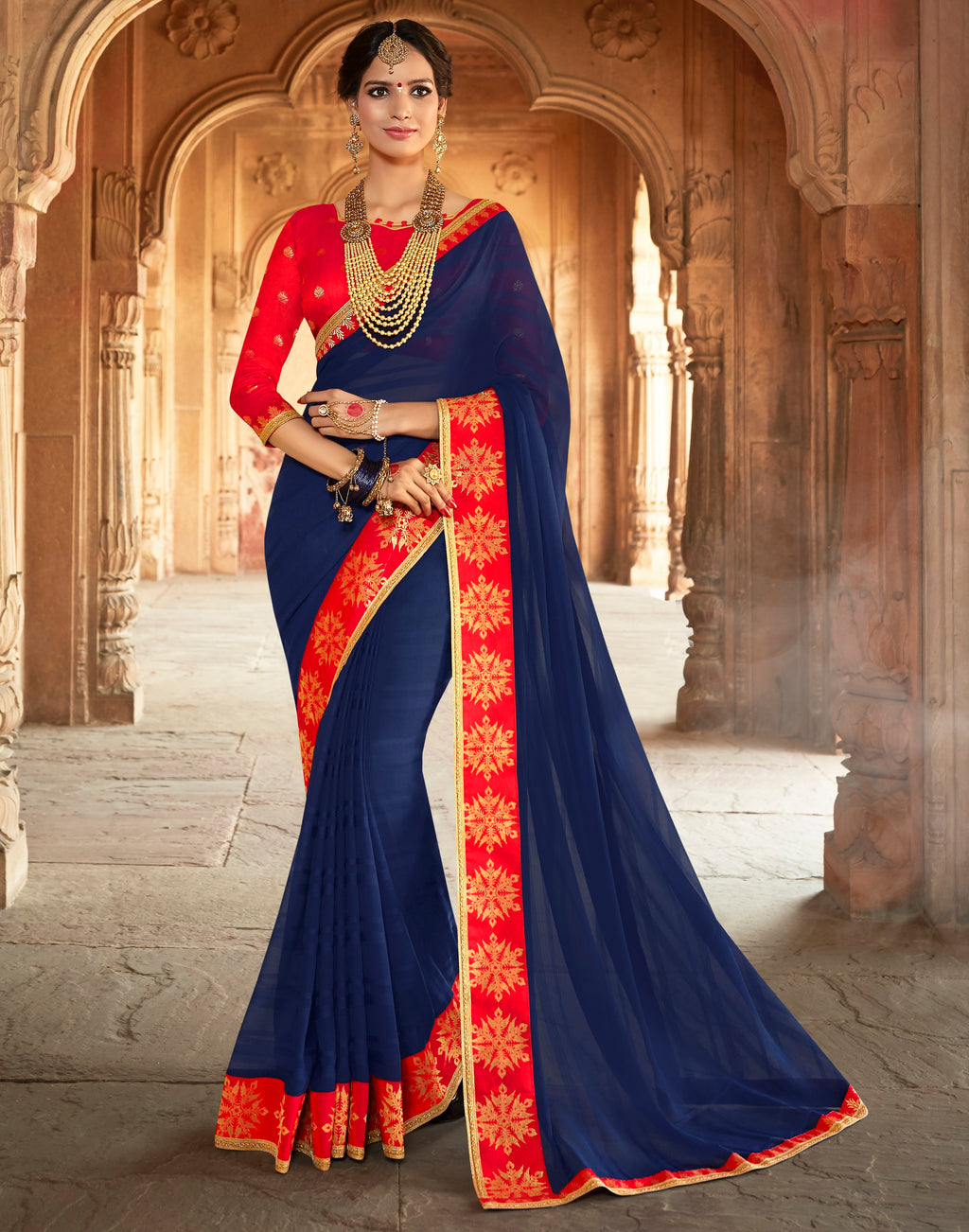 Blue Color Georgette Designer Party Wear Sarees  Anyra Suhani Catlog SJ-10370