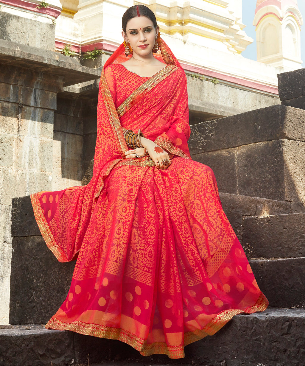 Orange Color Brasso Designer Party Wear Sarees  Velika Glamorous2 Catlog SJ-10314