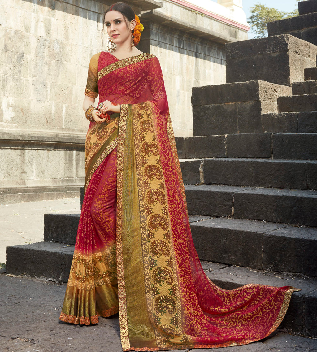 Red Color Brasso Designer Party Wear Sarees  Velika Glamorous2 Catlog SJ-10317
