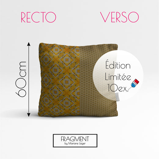 Coussin Velours - BUTTERFLY - Recto Punchy / Verso Soft - Ultra Doux - 60x60cm