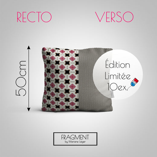 Coussin Velours - Recto Punchy / Verso Soft - Ultra Doux - 50x50cm