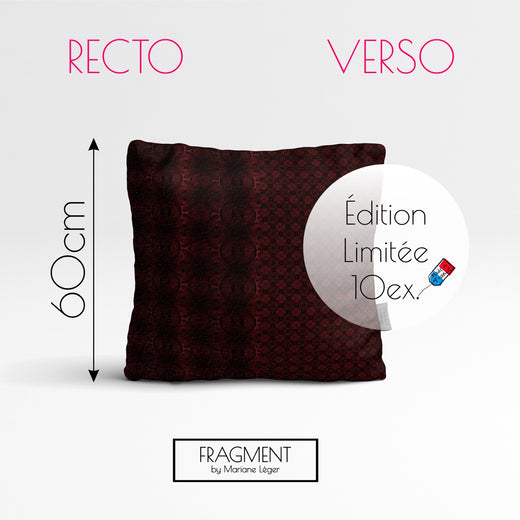 Coussin Velours - TEA TIME - Recto Punchy / Verso Soft - Ultra Doux - 60x60cm