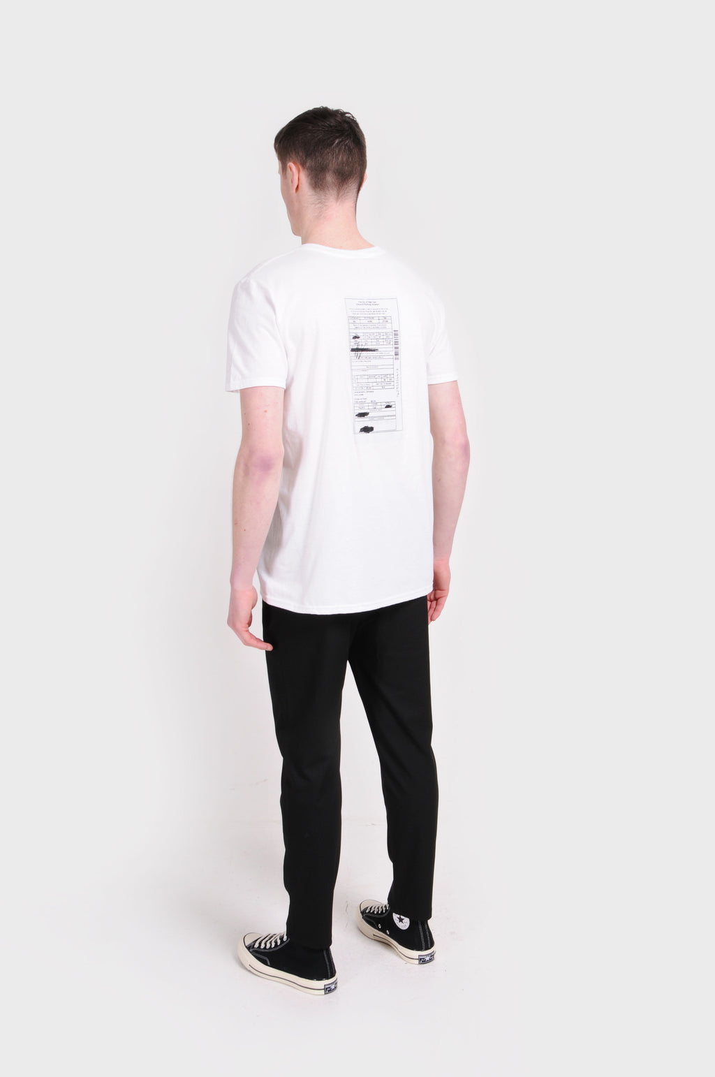 White NYC Ticket T-Shirt