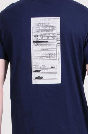 Navy NYC Ticket T-Shirt