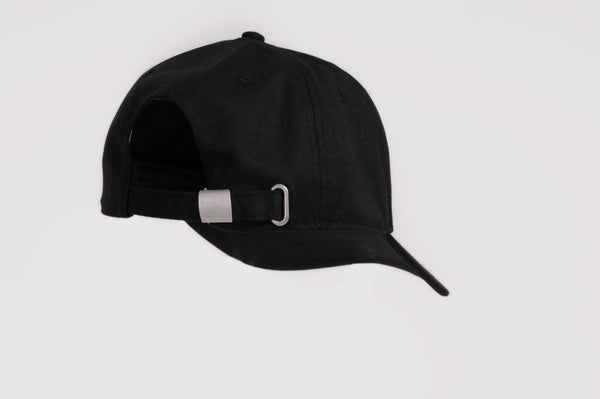 Black V Cap - White