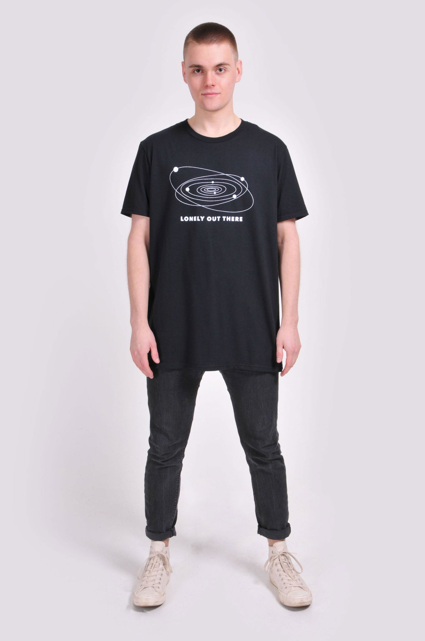 Black Lonely Out There T-Shirt