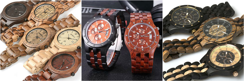 wooden watch selection